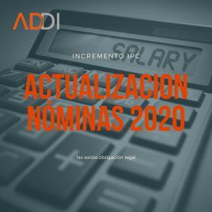 Actualización nóminas 2020