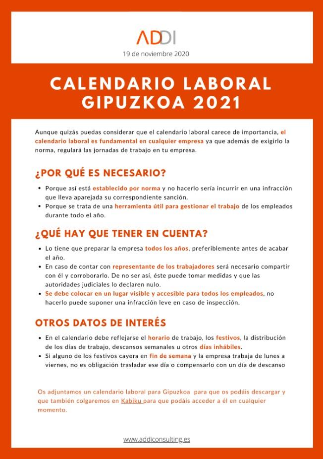 Calendario Gipuzkoa Addi Consulting